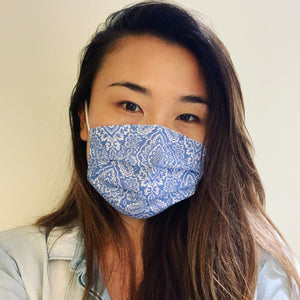 Damask Blue Face Mask
