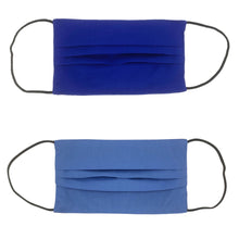 Load image into Gallery viewer, Royal Blue/Blue Double Sided Pleated Face Mask