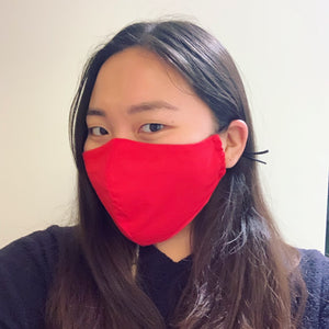 Red/Black Face Mask with Filter
