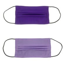 Load image into Gallery viewer, Purple/Lavender Double Sided Pleated Face Mask