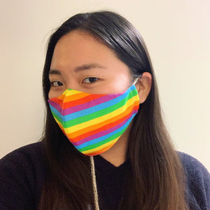 Rainbow Face Mask with Filter