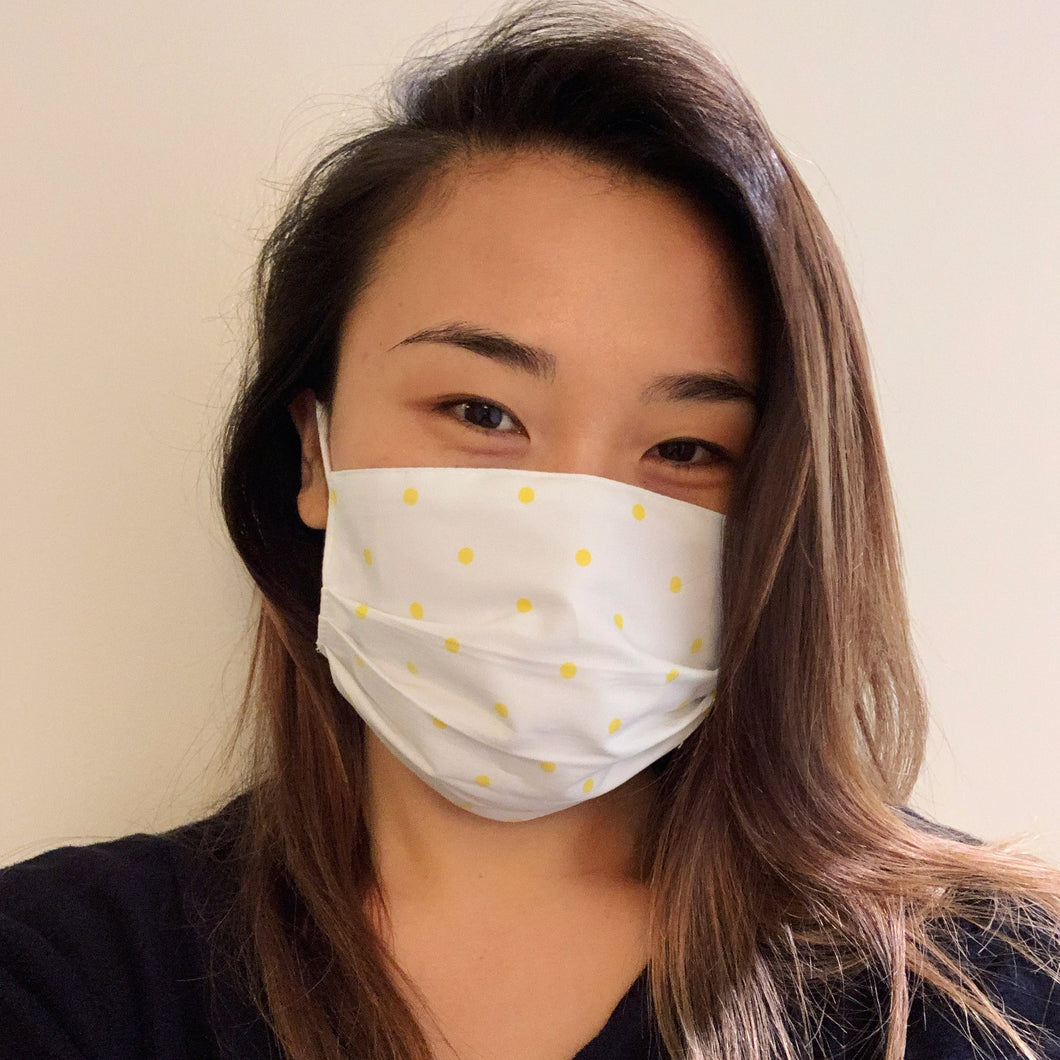 Yellow Polkadot Face Mask