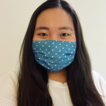 Load image into Gallery viewer, Denim Polkadot Face Mask