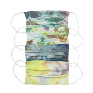 Tie Dye Pleated Adult Face Mask (Pack of 4)