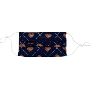 Navy Heart Face Mask