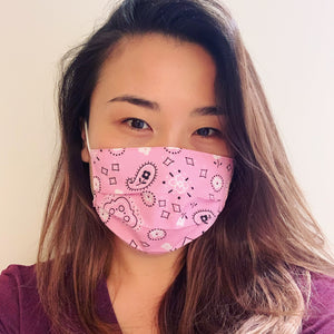Pink Bandana Face Mask
