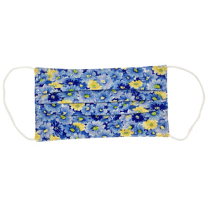 Blue Yellow Flower Face Mask