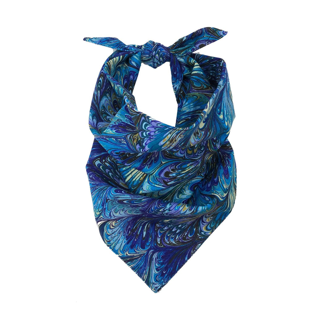Blue Oil Bandana With Filter & Nose Wire