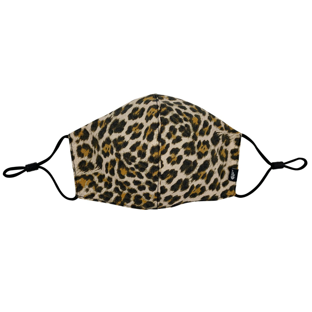 Cheetah Print Face Mask with Filter