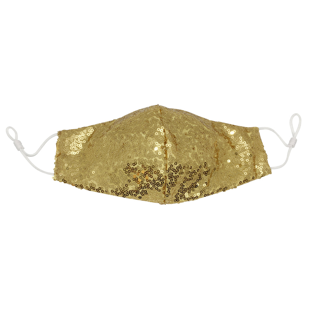 Gold Sequin Face Mask with Filter