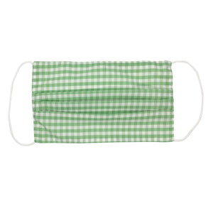Green Gingham Face Mask