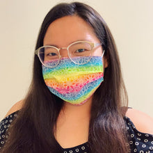 Load image into Gallery viewer, Rainbow Floral Face Mask