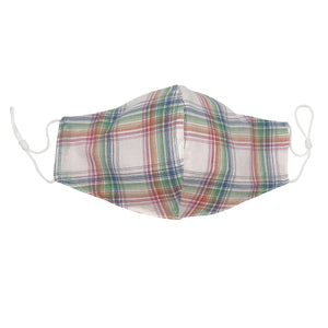Rainbow Plaid Face Mask