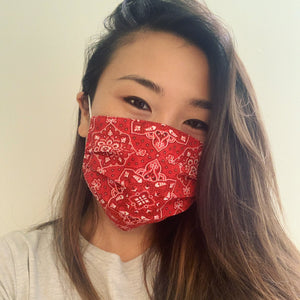 Red Bandana Face Mask