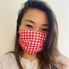 Load image into Gallery viewer, Red Gingham Face Mask
