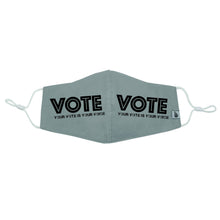 "Load image into Gallery viewer, ""Your vote is your voice"" VOTE Mask"