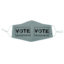 "Load image into Gallery viewer, ""Your vote is your voice square"" VOTE Mask"
