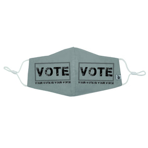 """Your vote is your voice square"" VOTE Mask"
