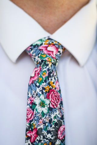 An incredibly bold floral tie. The perfect tie to express a confident and fun personality.