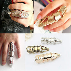 Men Women Gothic Punk Joint Knuckle Full Finger Claw Ring Statement Jewelry-Rings-SJI Shop