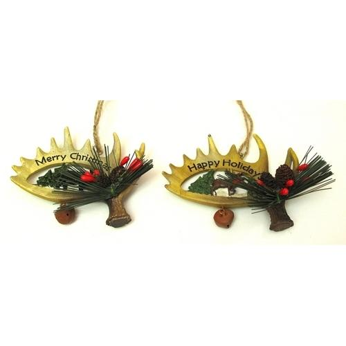 Resin Antler Ornaments Set of Two-Sports & Outdoor-SJI Shop