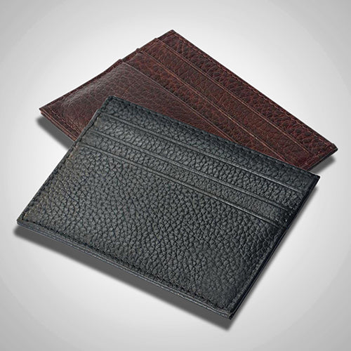 Men's Slim Credit Card Holder Faux Leather Wallet Coin Pocket Money Bag Purse-Wallets-SJI Shop
