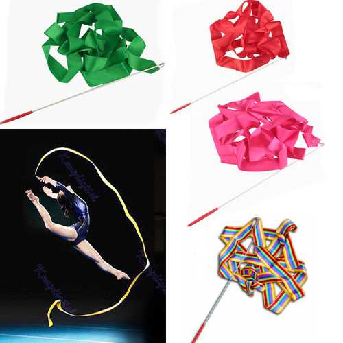 4M Gymnastic Art Streamer Ballet Dance Ribbon with Twirling Rod-Party Supplies-SJI Shop