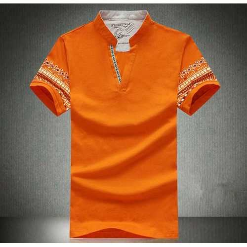 National Style Casual Printed Golf Shirt-Men's Clothing-SJI Shop