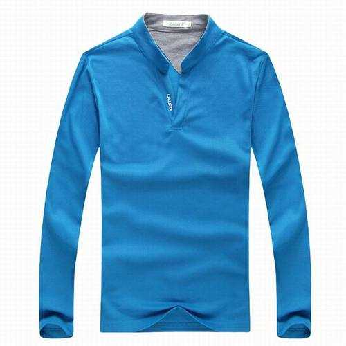 Mens Sports Solid Color Long Sleeved Golf Shirt-Men's Clothing-SJI Shop