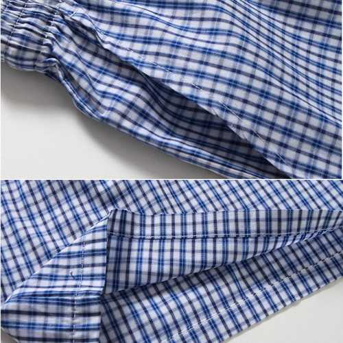 Summer Mens Casual Plaid Beach Pants Cotton Sport Swimming Trunks-Men Beachwear-SJI Shop