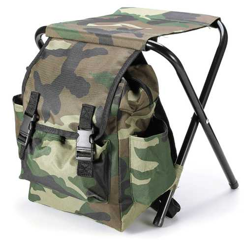 Fishing Chair Outdoor Portable Folding Stool Backpack Portable Folding Fishing Chair Backpack-Fishing-SJI Shop