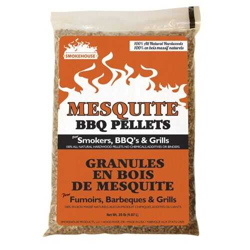 Smokehouse BBQ Pellets 20lb Bag Mesquite