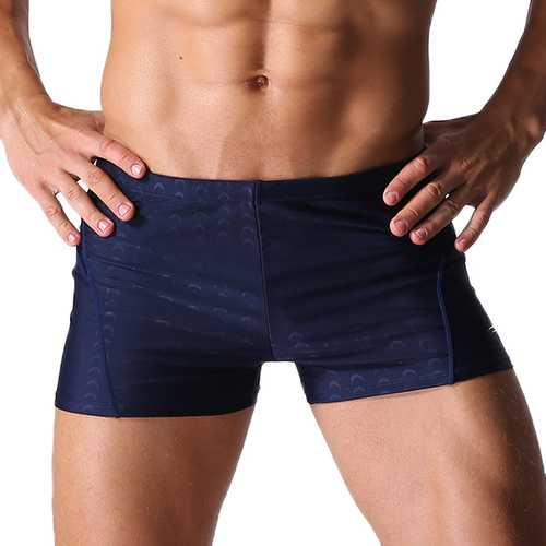 Mens Sexy Beach Swimming Quick Drying Trunks Solid Color Waterproof Spa Shorts-Men Beachwear-SJI Shop