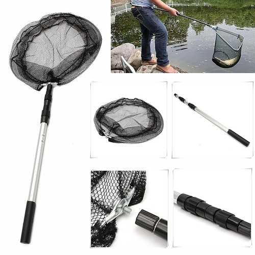 110CM Extending Fishing Net Aluminum Foldable Pole Handle Fish Net-Fishing-SJI Shop