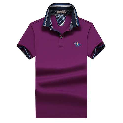 Big Size Turn-down Collar Embroidery T-shirt Mens Golf Shirt-Men's Clothing-SJI Shop
