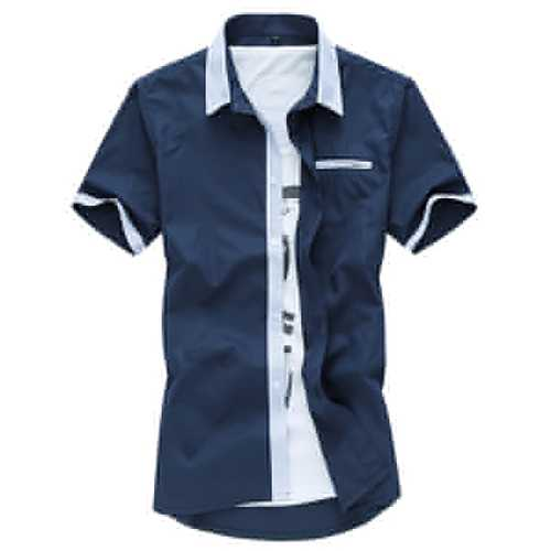 Mens Short Sleeve Fashion Casual Summer Cotton Label Shirts Plus Size M-3XL-Men Shirts-SJI Shop