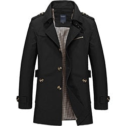 Men Jacket Coat Long Section Fashion Trench Coat Jaqueta Masculina Veste Homme Brand Casual Fit Overcoat Jacket Outerwear