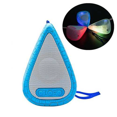 Outdoor Portable LED Light Weight Water Drop Shape HIFI Speaker with Mic for Xiaomi iPhone-Bluetooth Speakers-SJI Shop