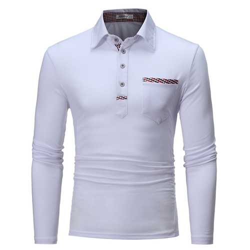 Men's Leisure Turn Down Collar Golf Shirt-Men's Clothing-SJI Shop