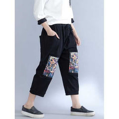 Casual Women Printed Ethnic Waist Pockets Pants-Women Bottoms-SJI Shop