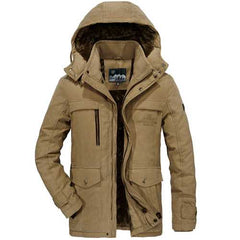 Mens Big Size Fleece Thick Warm Outdoor Jacket-Men Outwear-SJI Shop