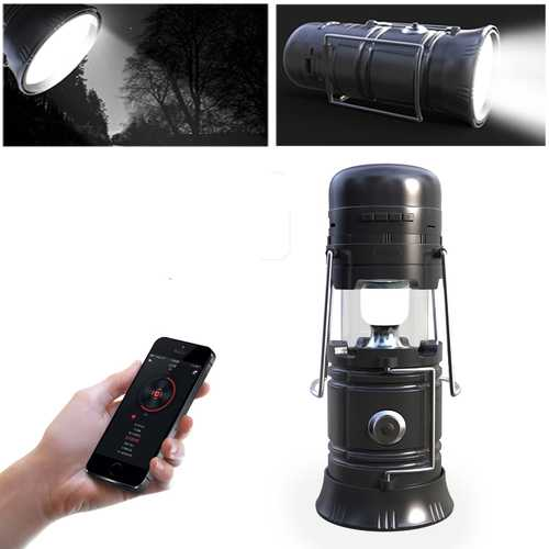 5 In 1 Retractable LED Solar Lantern Portable Emergency Light bluetooth Music Speaker-Sports & Outdoor-SJI Shop