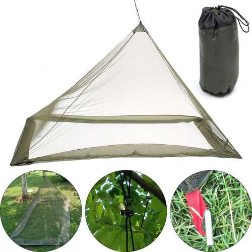 220x120x100cm Foldable Camping Hiking Tent Bed Portable Triangle Anti-Mosquito Net