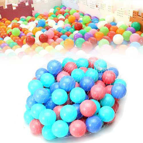 100Pcs Colorful Ball Soft Plastic Ocean Ball Baby Kid Swim Pool Pit Toy-Outdoor Games & Play-SJI Shop