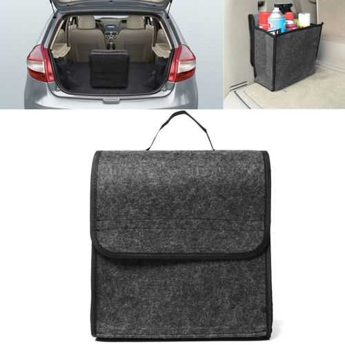11.8x11.4 x6.3inch Felt Cloth Foldable Car Back Rear Seat Organizer Travel Storage Interior Bag Hold-Sports & Outdoor-SJI Shop