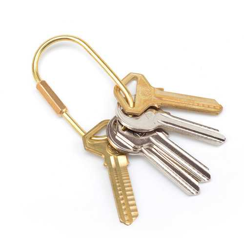 Outdoor Hiking HandmadeBrass Equitment Golden Key Pendant-Sports & Outdoor-SJI Shop