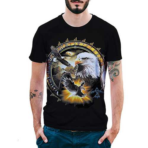 Eagle Pattern 3D Printed T-Shirts-Men's Clothing-SJI Shop