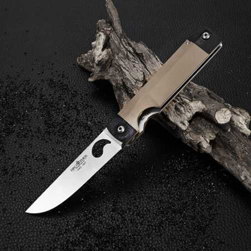 BROTHER 1607 195mm 440C Stainless Steel Knife Liner Lock Folding Knife Outdoor Survival Knife-Sports & Outdoor-SJI Shop