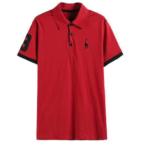Mens 100% Cotton Casual Short Sleeve Golf Shirts-Men's Clothing-SJI Shop