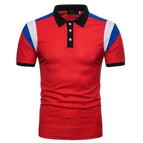 Men's Short Sleeve Lapel Golf T-Shirt-Men's Clothing-SJI Shop